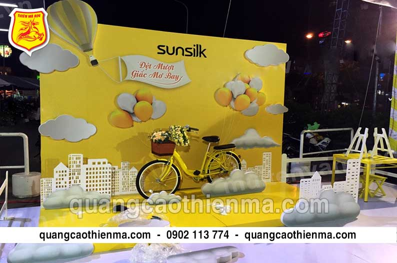 sản xuất booth activation sunsilk